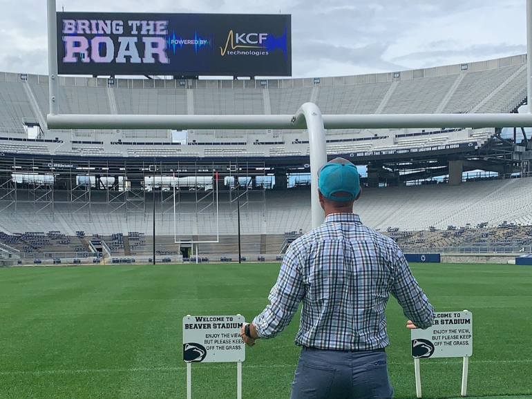 Jeremy Frank sees the Roar Tracker live for the first time in Beaver Stadium.